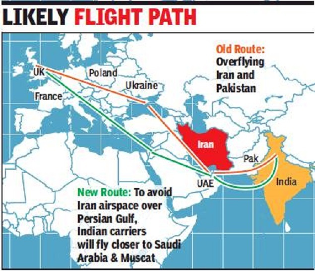 Don't fly over Iran's troubled waters, India tells airlines - Times on flight routes from usa to russia, airplane map usa to india, flight routes united states network, flight routes to latin america from russia, flight routes from china to us, flight routes from usa to japan,