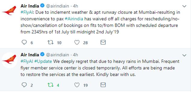 Air India tweet