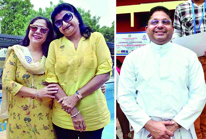 (L) Bela Tandon and Varsha (R) Father Rolfie (BCCL/ Pankaj Singh)