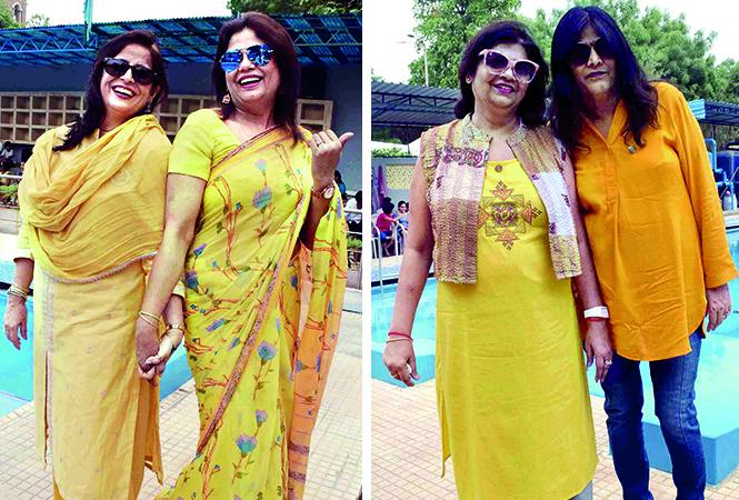 (L) Geeta Sachdeva and Rehana Khan (R) Poonam and Shikha (BCCL/ Pankaj Singh)