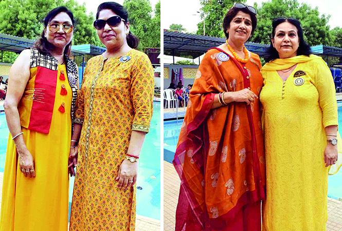 (L) Radha Vanish and Rosy Beer (R) Rita Srivastava and Vinita Arora (BCCL/ Pankaj Singh)