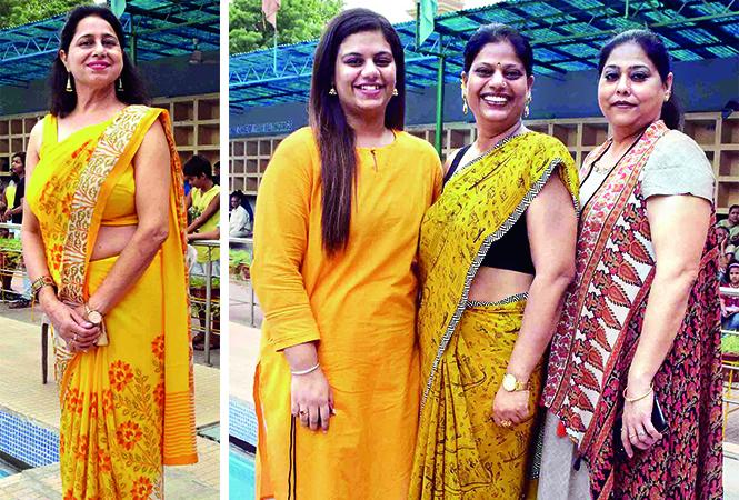 (L) Renu Katyal (R) Tuhina, Sonia Chatterjee and Meenakshi (BCCL/ Pankaj Singh)