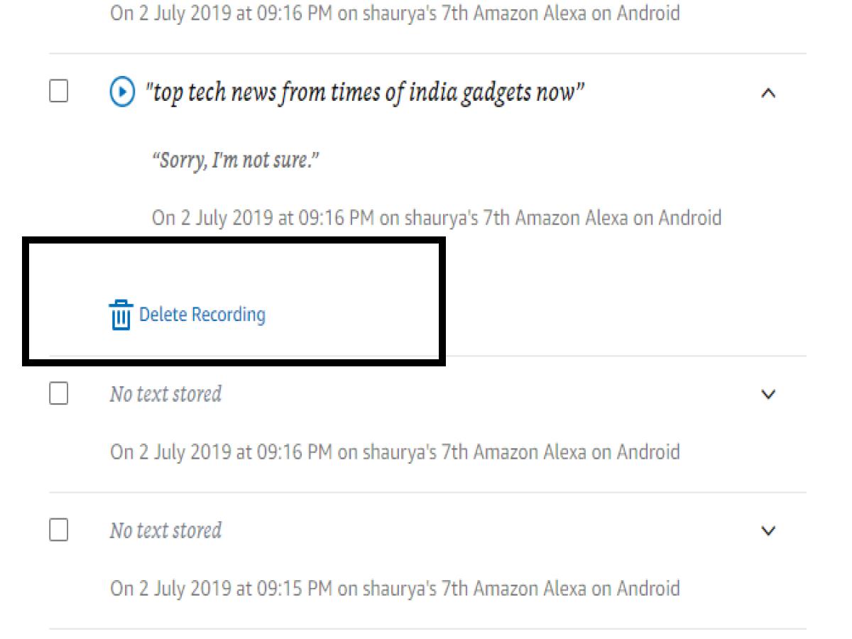Delete Alexa recording: How to delete voice recordings