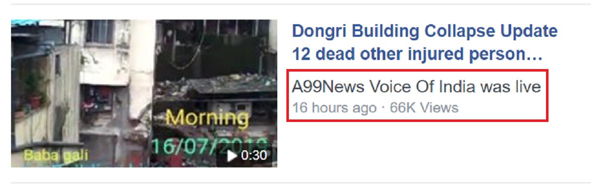 Dongri Facebook Live Post