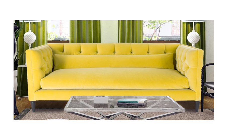 Elegant Chesterfield two-seater sofa