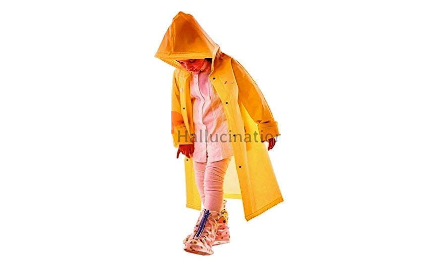 Unisex yellow raincoat for boys and girls