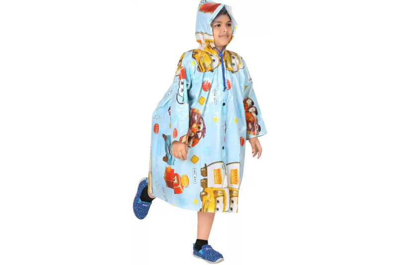 Graphic print raincoat for kids