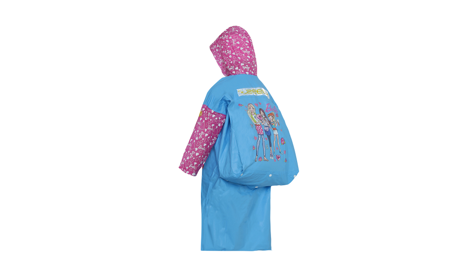 Barbie-themed raincoat for scholars