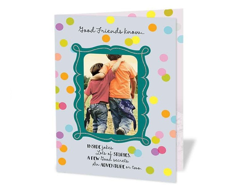 Good Friends Personalized Greeting Card