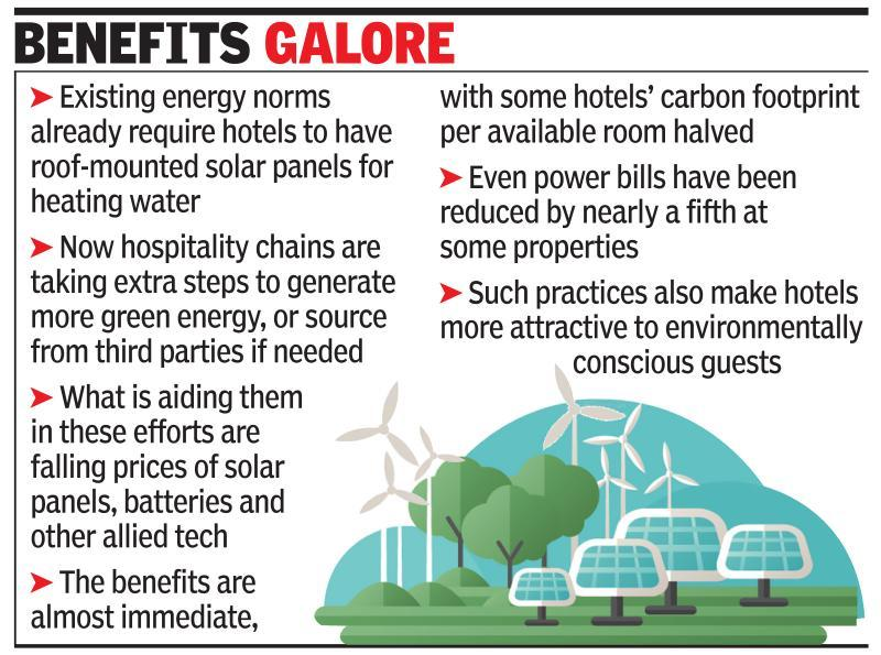 Hotels check into greener power sources