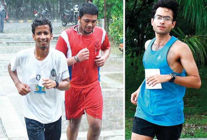 (L) Priyanshu Srivastava and Rino Thomas (R) Milan Gupta (BCCL/ Vishnu Jaiswal)