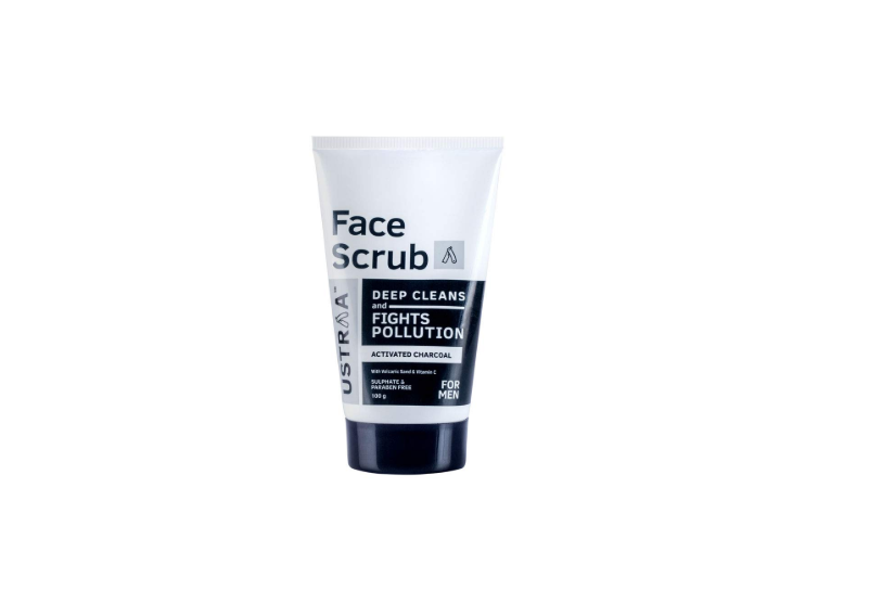 Activated Charcoal Face Scrub for Men by USTRAA