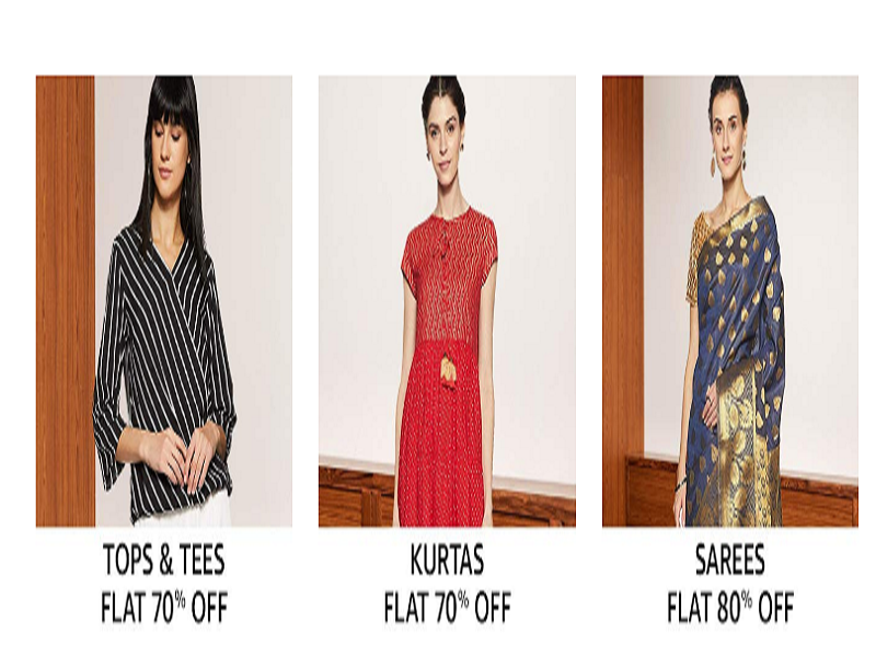 Up to 80% off on Women's clothing