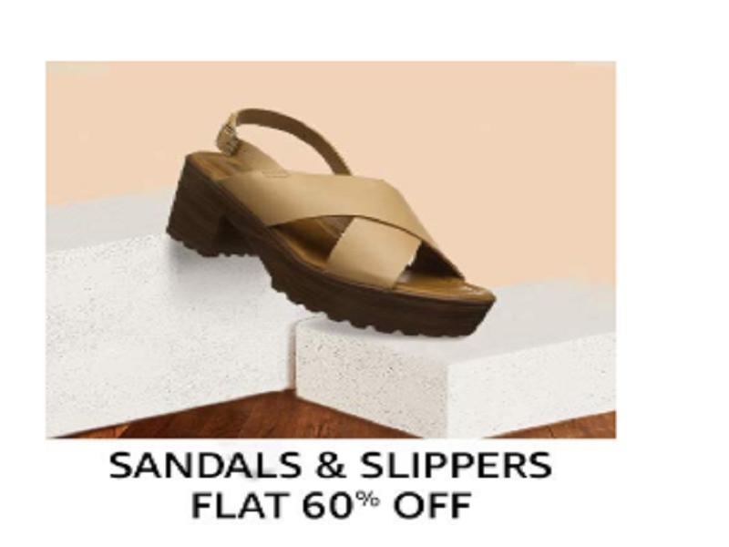 Flat 60% off on Women's Footwear