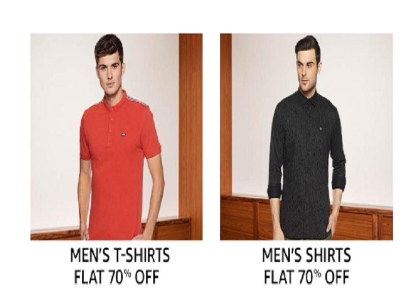 Flat 70% off on Men's Apparel