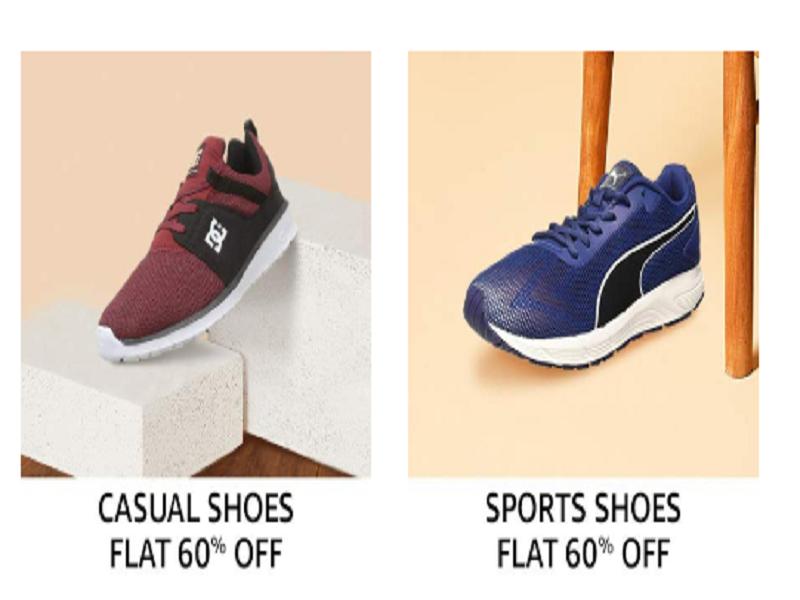 Flat 60% off on Men's Footwear