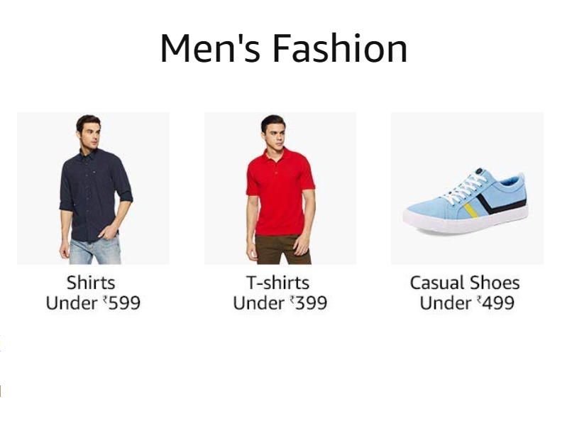 Men's fashion on amazon
