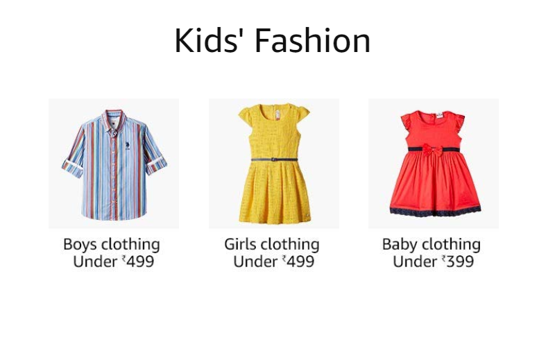 Kid's Fashion offers on Amazon Freedom sale