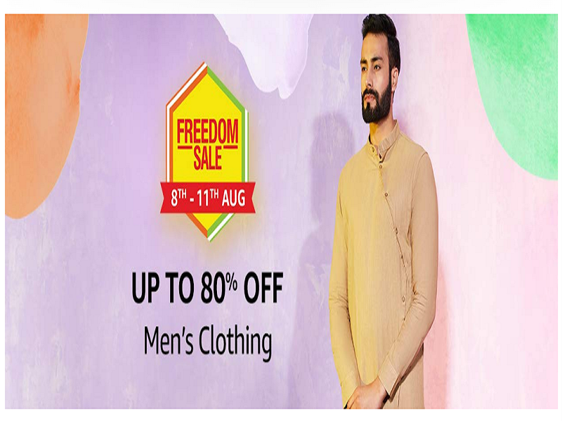 Up to 80% off on men's apparel