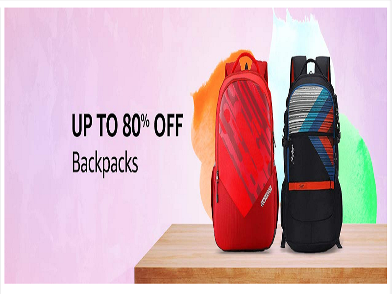 Up to 80% off on backpacks