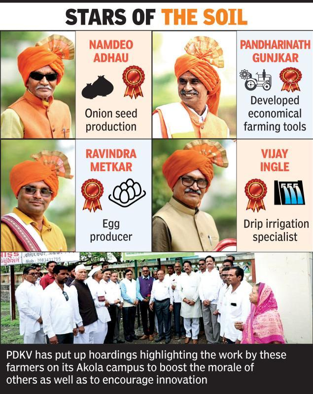'Ideal farmers' are celebs on PDKV campus