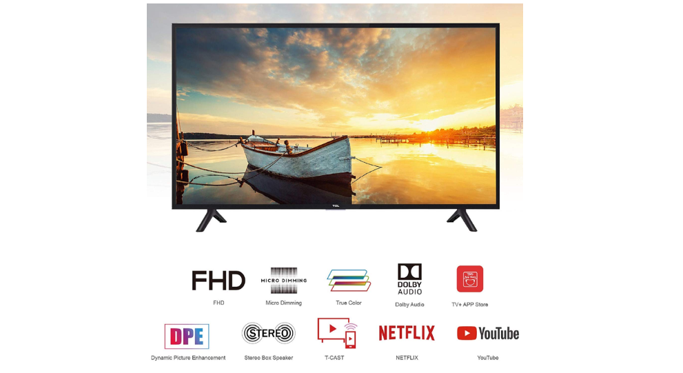 TCL 100.3 cm (40 Inches) Full HD LED Smart TV 40S62FS (Black) for Rs 16,999