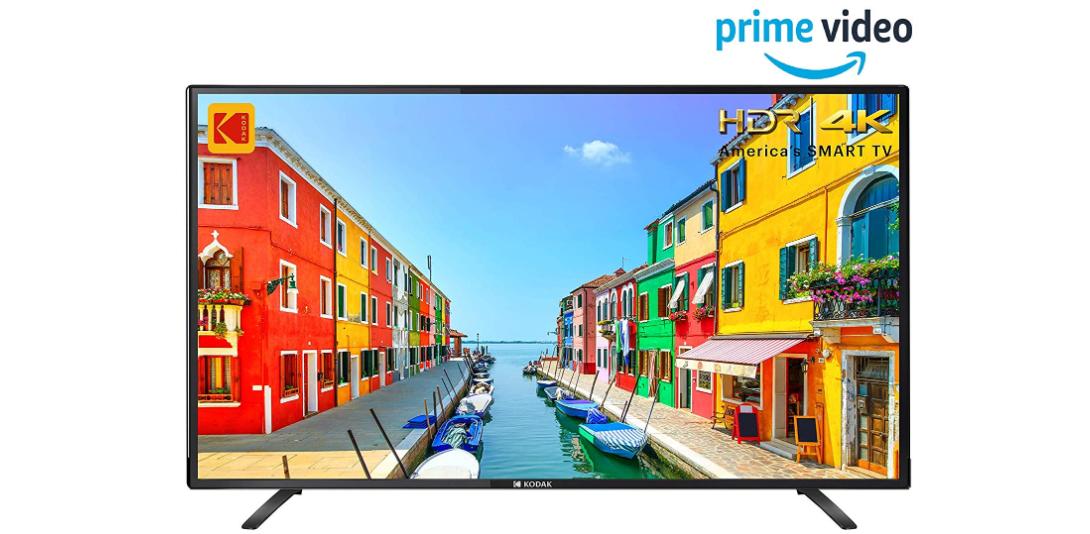 Kodak 140 cm (55 inches) 4K Ultra HD Smart LED TV (Black) for Rs 32,999