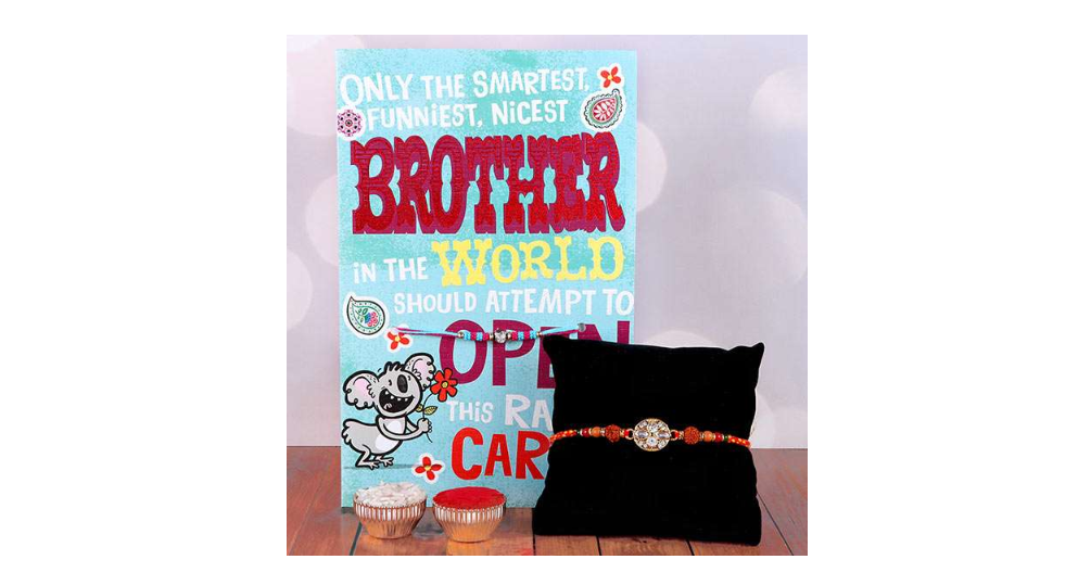 Nicest Brother Greeting Card With Rakhi
