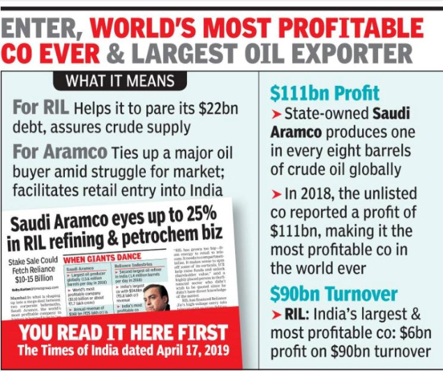 Saudi Aramco to buy 20% in RIL's petro arm for $15 billion