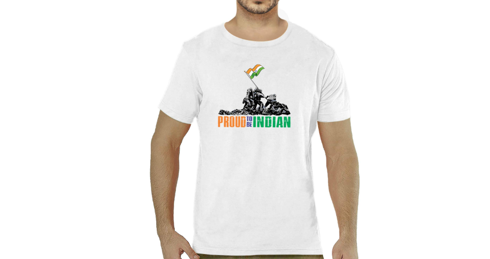 Proud to Be Indian Cotton Printed T-Shirt