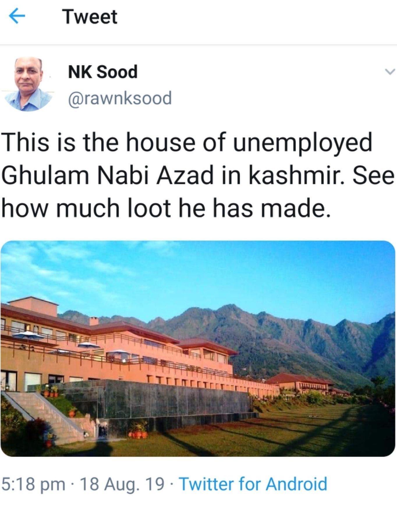 NK Sood tweet.