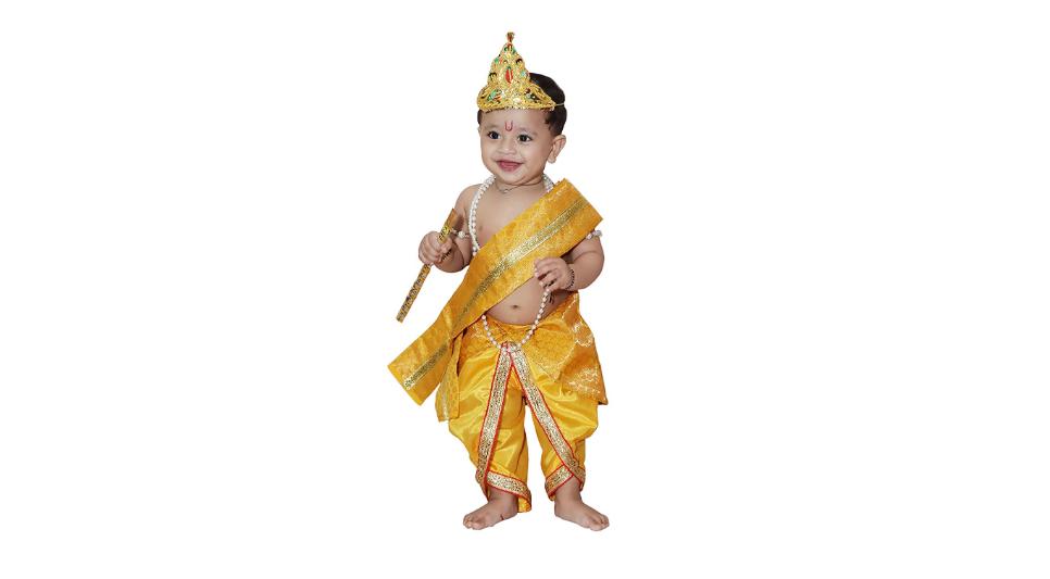 Baby Krishna Brocade Janmashtami outfit