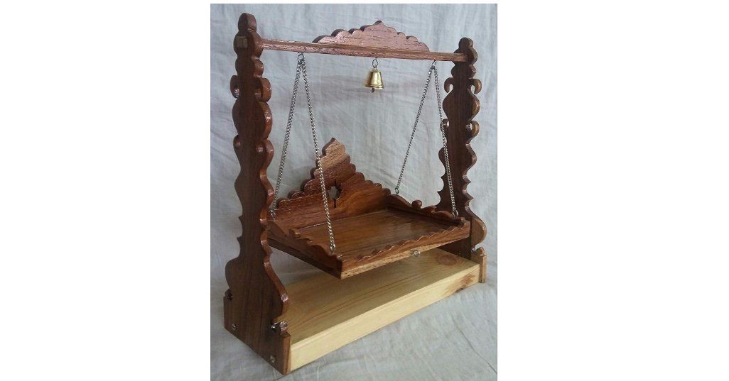 Wooden Jhula for Lord Krishna