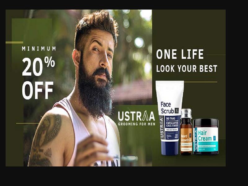 Minimum 20% off on Ustraa