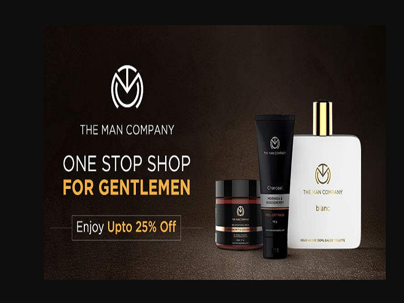 Up to 25% off on The Man Company