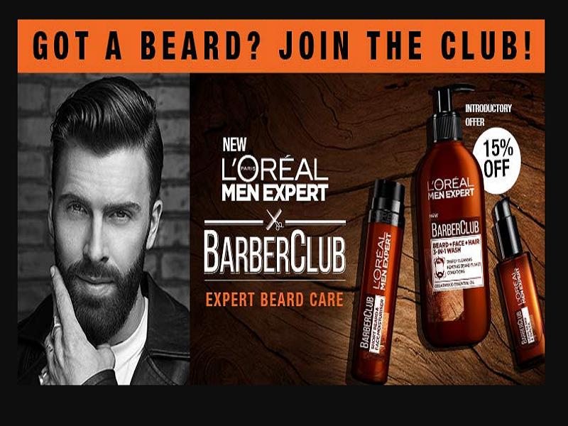 15% off on Loreal Paris Men Expert Barber Club