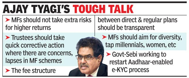MFs not banks that provide risk capital, says Sebi chief