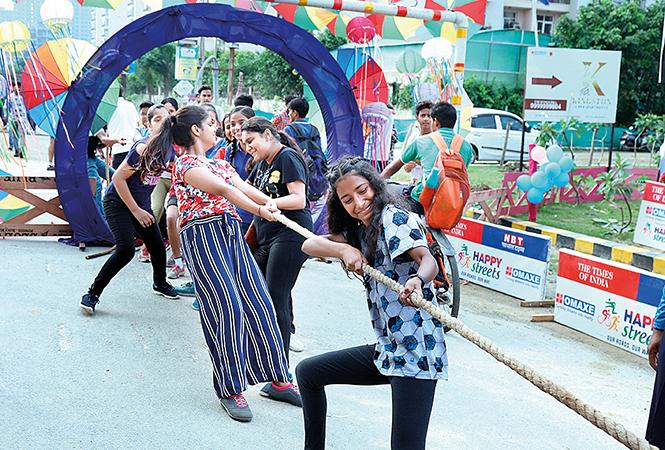 Participants at Happy Streets (BCCL/Aditya Yadav)