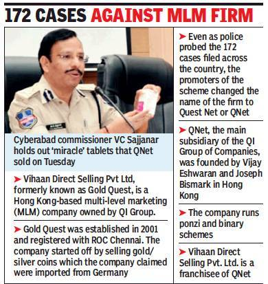Qnet S Vihaan To Wind Up Don T Enrol Cops To People Hyderabad News Times Of India