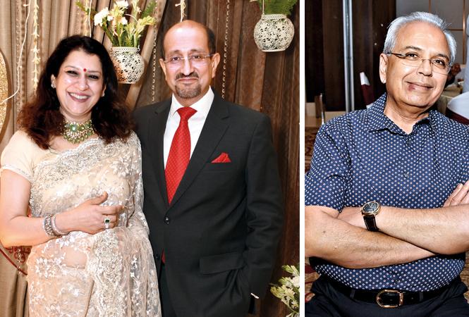 Shikha and Rajeev Shukla and Shankar Halwasiya  (BCCL/ Farhan Ahmad Siddiqui)