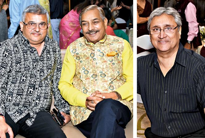 Anant Mishra (L) and Pramod Tiwari  and Luv Bhargava  (BCCL/ Farhan Ahmad Siddiqui)