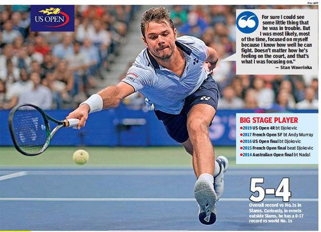 Djokovic Undone By Injury And Stan Wawrinka Tennis News Times Of India