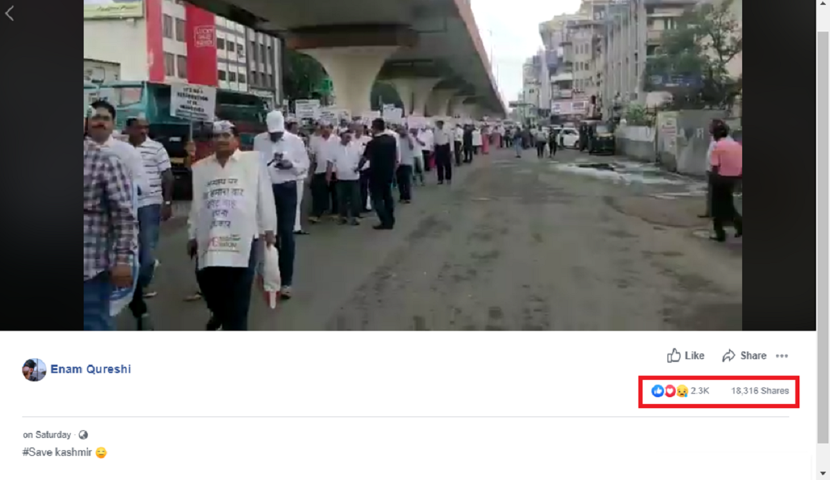 FAKE ALERT: No, this is not a video of protest against