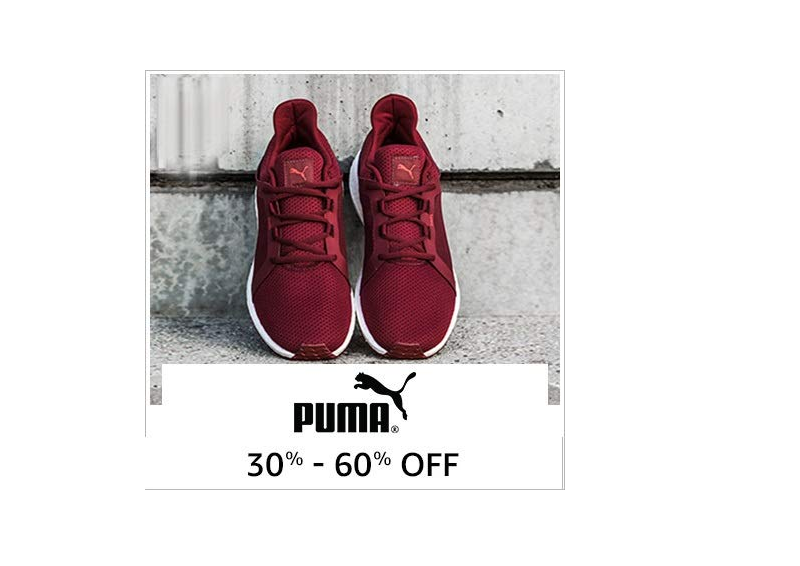 Up to 60% off on Puma