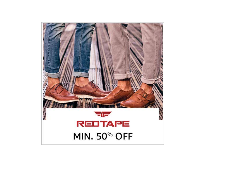Up to 50% off on Red Tape