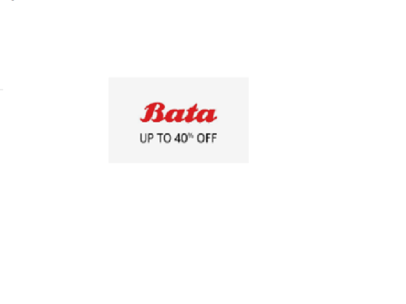 Up to 40% off on Bata