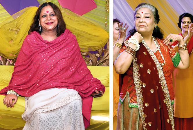 Meenakshi Singh with Neena Mishra (BCCL/ Farhan Ahmad Siddiqui)