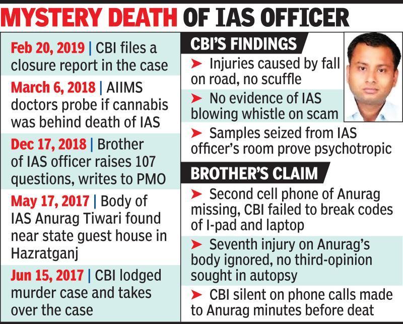 CBI probe shoddy: Dead IAS officer's bro files plea