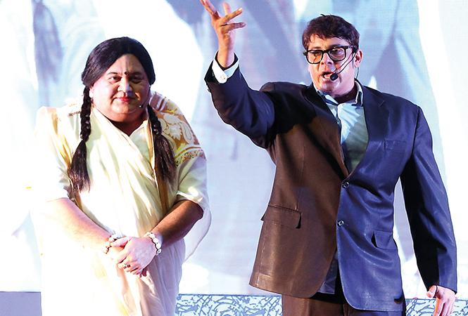 Kunal  Vijayakar (L) and Cyrus Broacha   (BCCL/ Aditya Yadav)