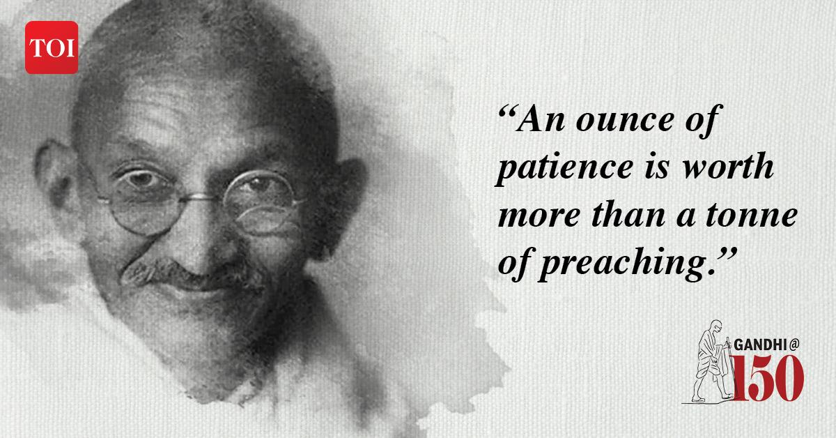 India Celebrates Gandhi Jayanti 10 Inspiring Quotes By Mahatma India News Times Of India